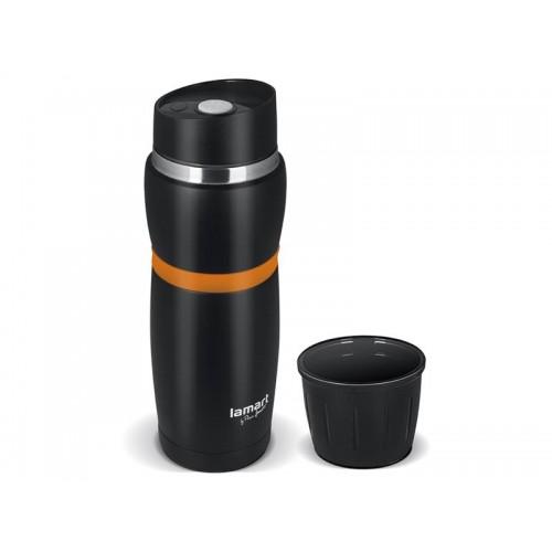 Termoska 480ml CUP LAMART LT4054 čierna/oranžová