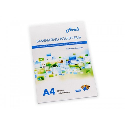 Fólie laminovacie AVELI A4 200 mic (2x100) lesklé