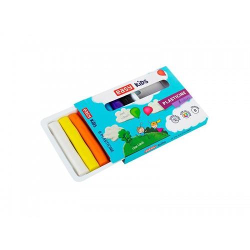 Plastelína EASY Creative sada 8 farieb, 128g