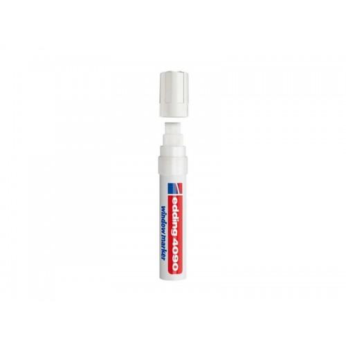 Popisovač kriedový na sklo Edding 4090 fluorescenčný biely 4-15mm