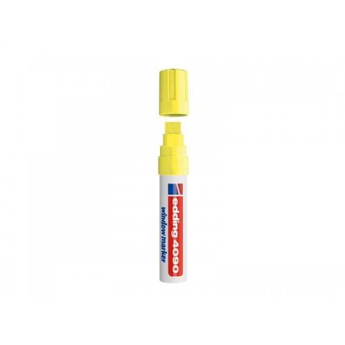 Popisovač kriedový na sklo Edding 4090 fluorescenčna žltá 4-15mm
