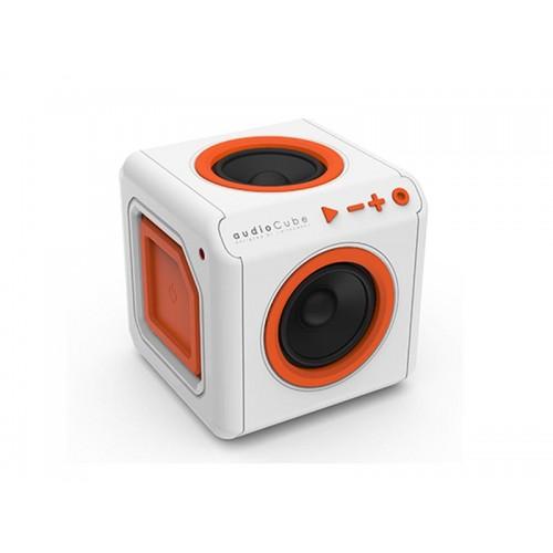 Reproduktor prenosný PowerCube AUDIOCUBE PORTABLE bielo-oranžový