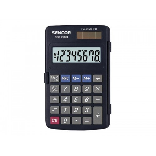 Kalkulačka vrecková SENCOR SEC 229/8 DUAL